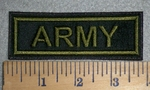 3390 L - Army - Army Green - Embroidery Patch