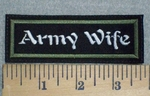 3241 L - Army Wife -Embriodery Patch