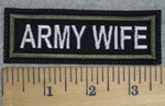 1486 L - Army Wife - Embroidery Patch
