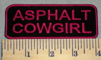 2410 G - Asphalt Cowgirl - Embroidery Patch