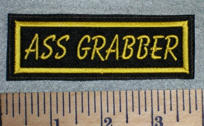 2649 L - Ass Grabber - Yellow - Embroidery Patch