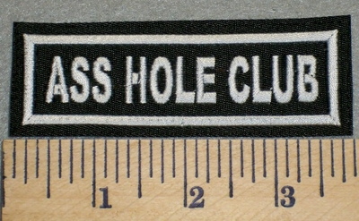 2409 L - Ass Hole Club - Embroidery Patch