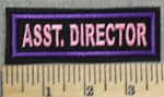 2916 L - Asst. Director - Pink - Embroidery Patch