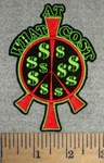 2693 N - At What Cost - Peace Sign With $$ - Embroidery Patch