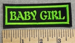 2953 L - Baby Girl - Neon Green - Embroidery Patch
