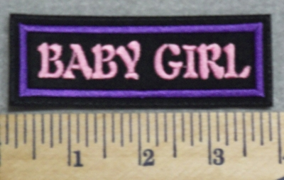 3976 L - Baby Girl - Pink - Embroidery Patch
