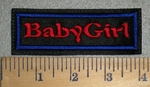 3380 L - BabyGirl - Red - Embroidery Patch