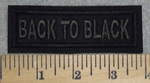 2841 L - Back To Black - Embroidery Patch