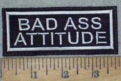 86 L - BAD ASS ATTITUDE - EMBROIDERY PATCH