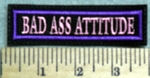 2819 L - Bad Ass Attitude - Pink - Embroidery Patch