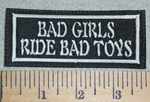 3033 L - Bad Girls Ride Bad Toys - Embroidery Patch