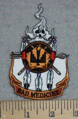 3408 N - Bad Medicine Indian Catcher - Embroidery Patch