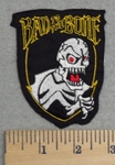 2872 N - Bad To The Bone - Red Eyed Skull Face - Embroidery Patch