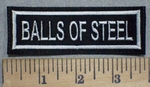 3483 L - Balls Of Steel - Embroidery Patch