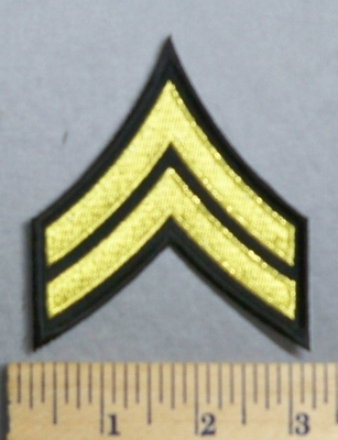 2070 CP - Corporal Army Stripes - Embroidery Patch