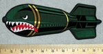 2926 G - Big Bomb With Mean Shark Face - Embroidery Patch