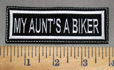 3232 L - My Aunt's A Biker - Embroidery Patch
