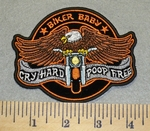 2442 G - Biker Baby - Cry Hard - Poop Free - EAgle Rider - Embroidery Patch