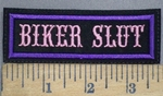 1224 L - Biker Slut - Embroidery Patch
