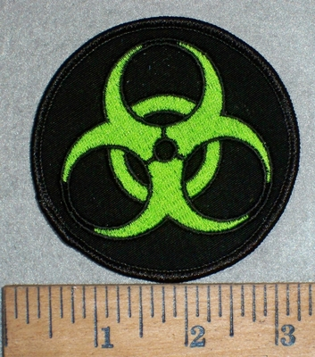 3523 W - Bio - Hazard Symbol - Logo - Neon Green - Embroidery Patch