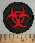 3516 W - Bio - Hazard  Symbol - Logo - Red - Embroidery Patch
