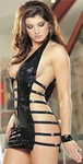 Black Leather Snake String Sexy Dress/Rally Wear - OS