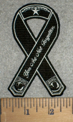 3226 G - Black Ribbon - POW-MIA You Are Not Forgotten - Embroidery Patch