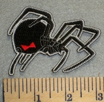 2453 N - Black Widow Spider - Embroidery Patch