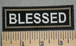 2426 L - Blessed - Brown Border - Embroidery Patch