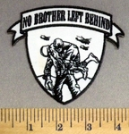 3289 CP - No Brother Left Behind - Soldier Carrying Injured Soldier - Embroidery Patch