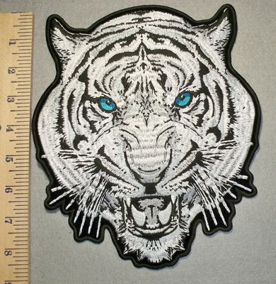 2449 G -Blue Eyed Tiger - Back Patch - Embroidery Patch