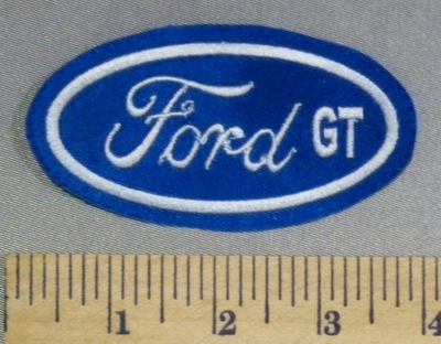 9 L - Ford GT Logo - Embroidery Patch
