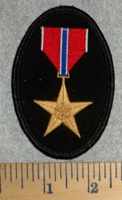 2786 W - Bronze Star Metal - Embroidery Patch
