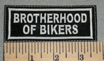 2411 L - Brotherhood Of Bikers - Embroidery Patch
