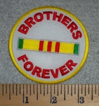 2787 W- Brothers Forever - Round - Embroidery Patch