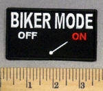 247 CP - BIKER MODE - ON - Embroidery Patch