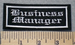 2306 L - Business Manager - Embroidery Patch