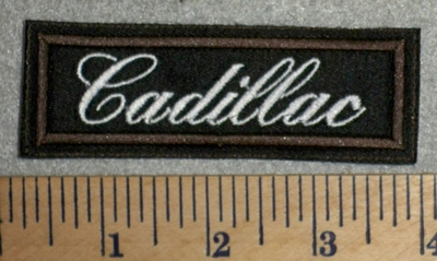 2719 L - Cadillac - Brown Border - Embroidery Patch