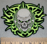 2463 G - Celtic Design With Celtic Style Skull - Embroidery Patch