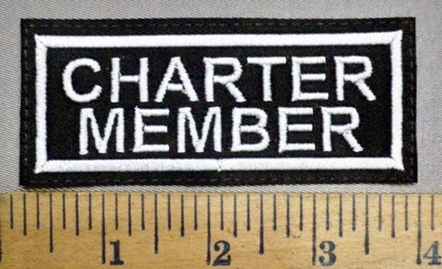 578 L - Charter Member - Embroidery Patch