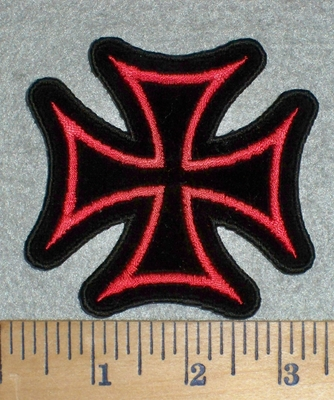 3337 W - Chopper Logo - Red - Embroidery Patch