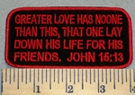 2389 W - Christian Bible Patch - John 15:13 - Embroidery Patch