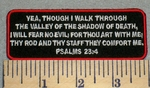 2375 W - Christian Bible Verse Psalms 23:4
