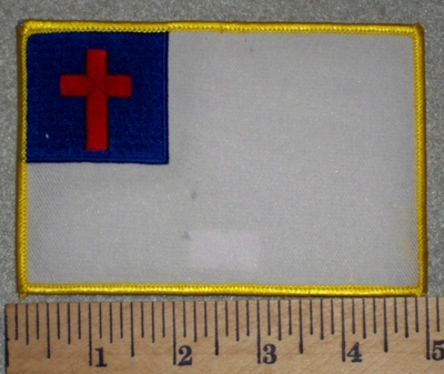 2601 W - discontinued Christian Flag - 5 Inch - Embroidery Patch