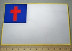 2343 W - Christian Flag - Extra Large Back Patch - Embroidery Patch