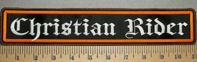 2408 L - Christian Rider - Straight Patch - Embroidery Patch