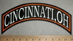 Cincinnati, Oh -Top Rocker - Orange Border - Embroidery Patch
