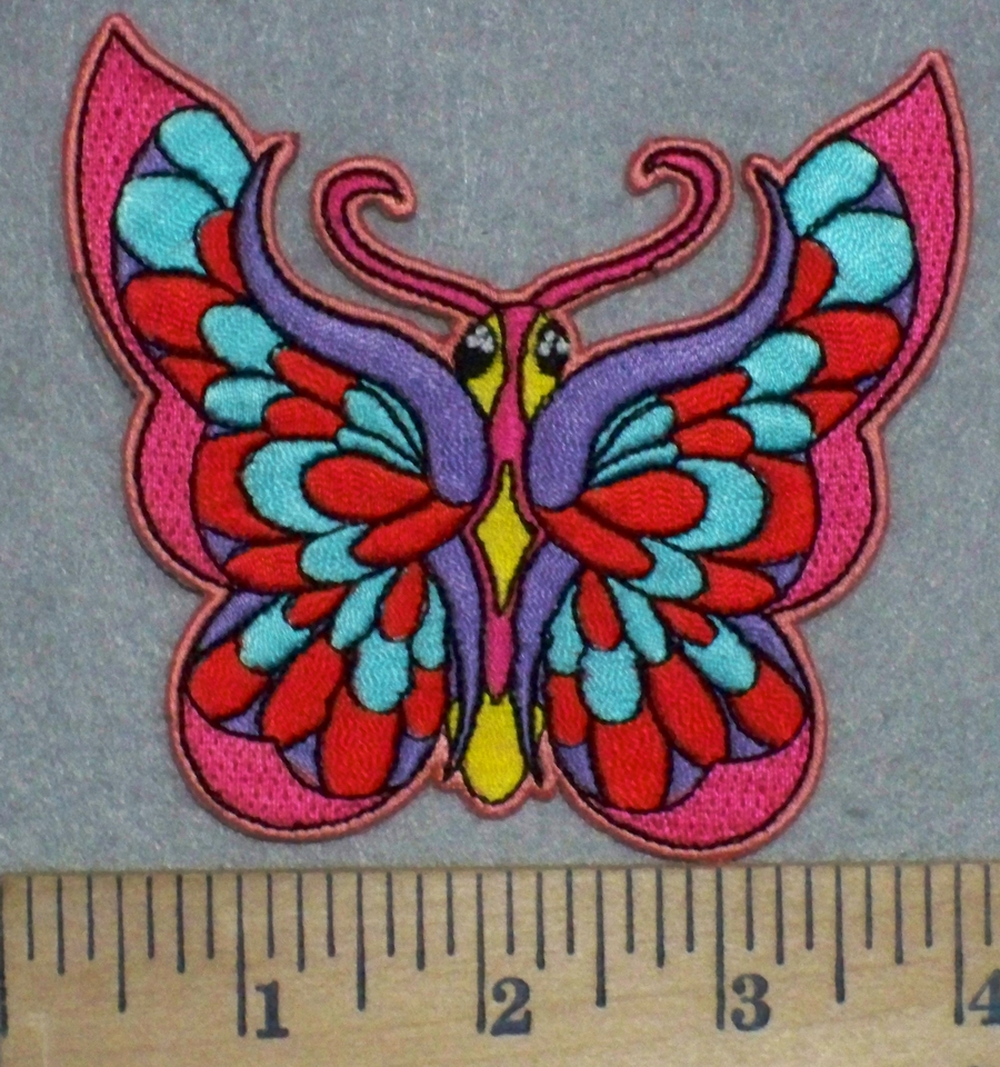 N colorful butterfly embroidery patch
