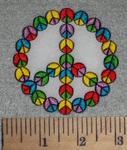 2690 N - Colroful Peace Sign With Mini Peace Signs- Embroidery Patch