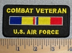 2808 W - Combat veteran U.S. Air Force With Combat Stripe - Embroidery Patch